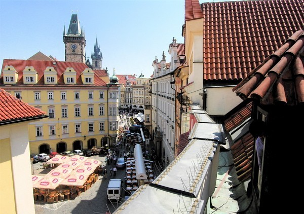 Vue rooftop EVG Prague